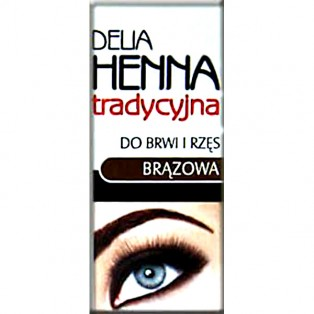 Delia- Henna do brwi i rzęs Brązowa 2ml